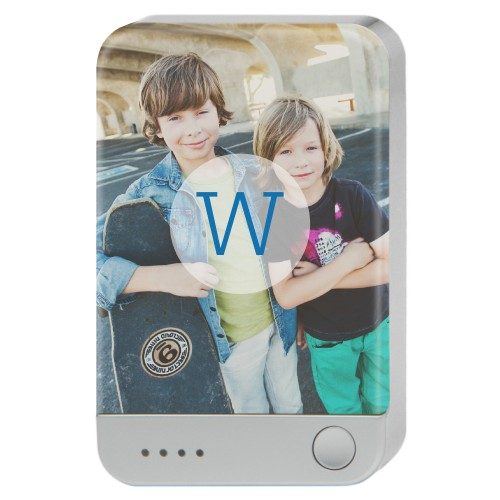 Circle Overlay Monogram Portable Charger