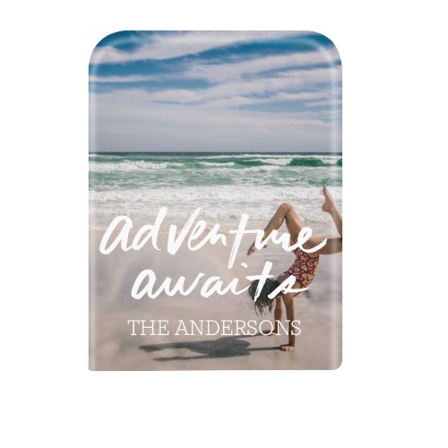 Adventure Awaits Faceplate for the Portable Charger, Portable Charger, White