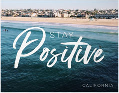 stay positive premium poster