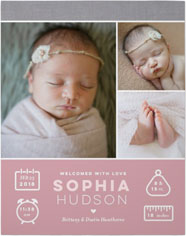 welcome baby girl premium poster