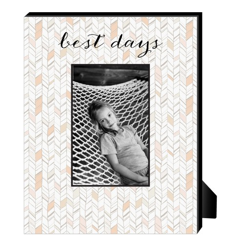 Natural Herringbone Personalized Frame, - Photo insert, 8 x 10 Personalized Frame, Multicolor