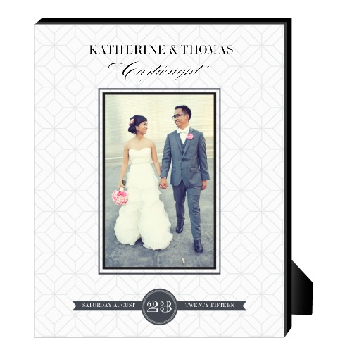 Classic Wedding Personalized Frame, - Photo insert, 8 x 10 Personalized Frame, White