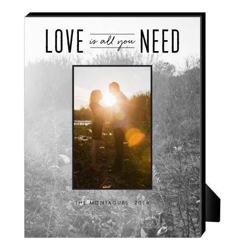 Love Is All We Need Personalized Frame, - No photo insert, 8 x 10 Personalized Frame, White