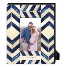 blue chevron bone personalized frame