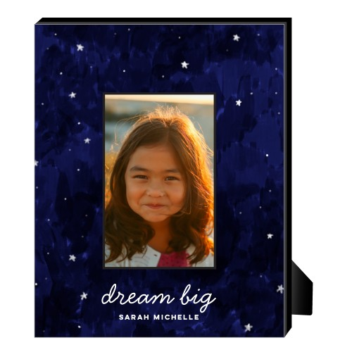 Moon And Stars Dream Big Personalized Frame, - No photo insert, 8 x 10 Personalized Frame, Blue