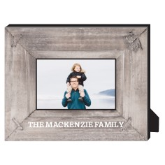 photo real wood personalized frame