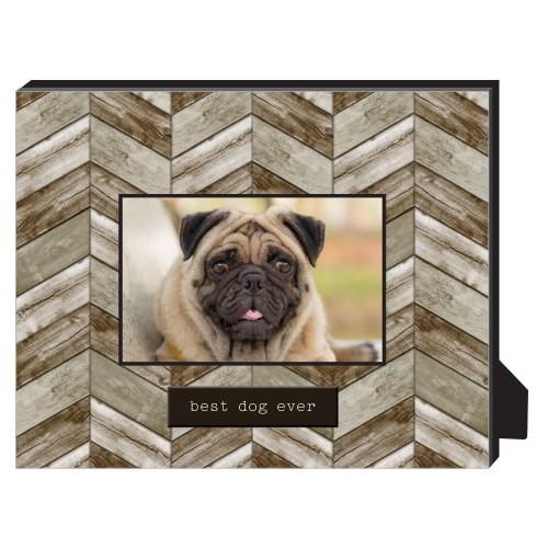 Rustic Best Dog Ever Personalized Frame Personalized Desktop Frame