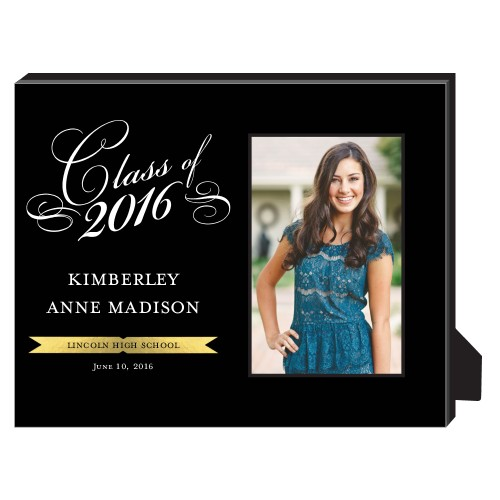 Elegant Class Frame Personalized Frame, - Photo insert, 8 x 10 Personalized Frame, Black