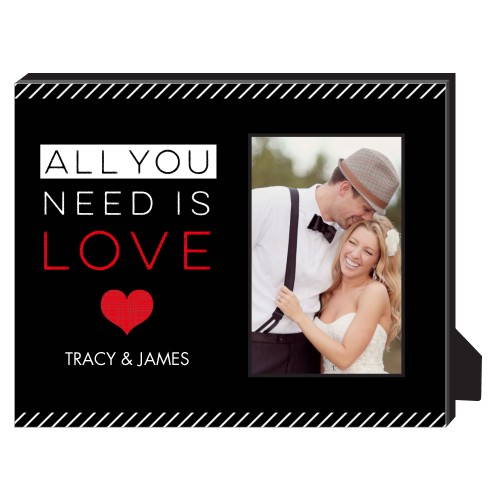 Love Is All You Need Personalized Frame, - Photo insert, 8 x 10 Personalized Frame, Red