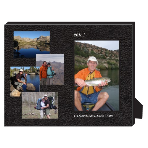 Printed Leather Personalized Frame, - Photo insert, 8 x 10 Personalized Frame, Black