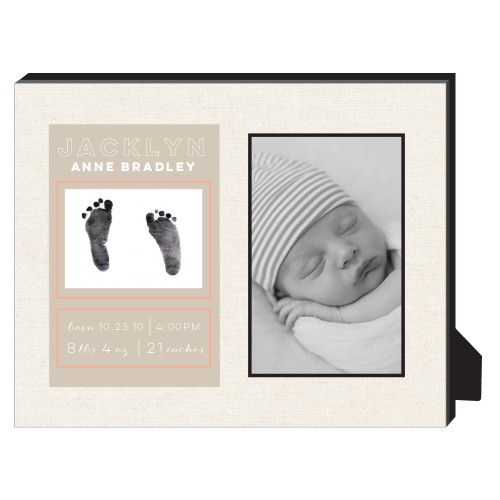 Newborn Frame Personalized Frame, - No photo insert, 8 x 10 Personalized Frame, Beige