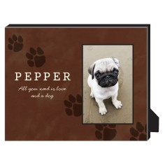paws personalized frame
