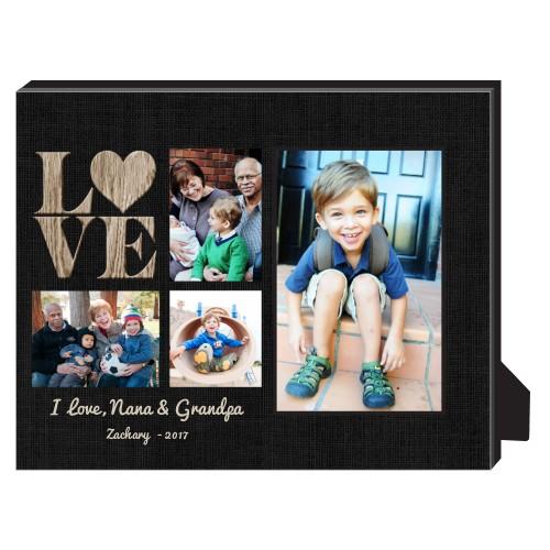 Lovely Burlap Personalized Frame, - Photo insert, 8 x 10 Personalized Frame, Black