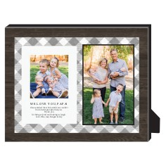 rustic border personalized frame