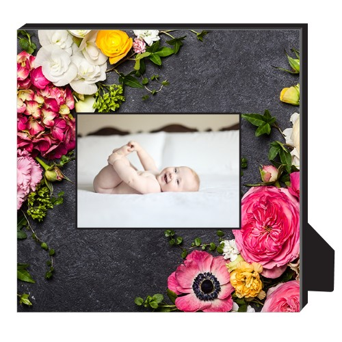 Photo Real Floral Personalized Frame, - No photo insert, 11.5 x 11.5 Personalized Frame, Multicolor