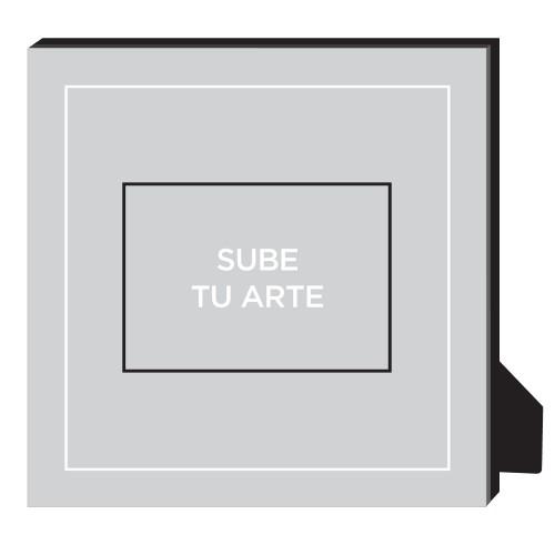 Sube Tu Arte Personalized Frame, - Photo insert, 11.5 x 11.5 Personalized Frame, Multicolor