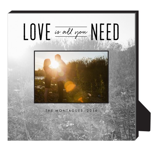 Love Is All We Need Personalized Frame, - No photo insert, 11.5 x 11.5 Personalized Frame, White