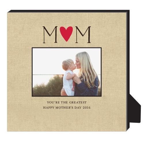 Mom Is The Greatest Personalized Frame, - No photo insert, 11.5 x 11.5 Personalized Frame, Beige
