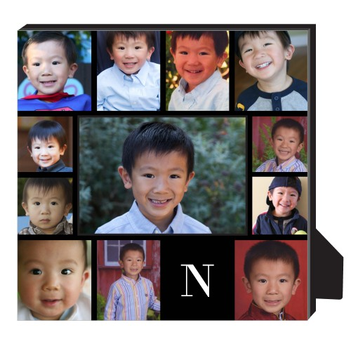 Gallery Monogram Personalized Frame, - Photo insert, 11.5 x 11.5 Personalized Frame, Black