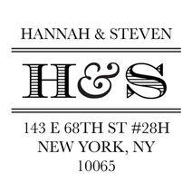 perfect initials self inking rubber stamps