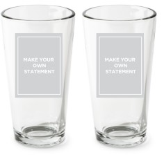 make your own statement pint glass