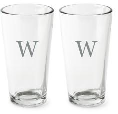 classic monogram series pint glass