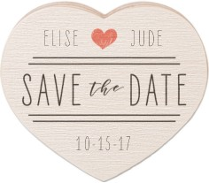 save the date wooden magnet