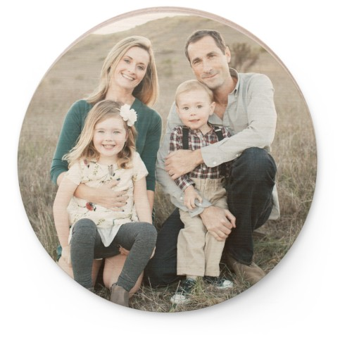 Photo Gallery Circle Wooden Magnet