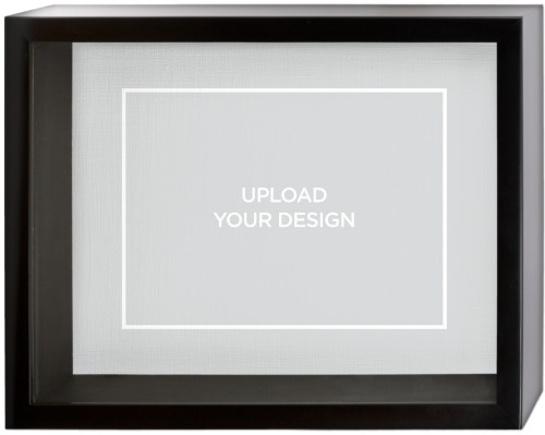Upload Your Own Design Shadow Box, Black, 11 x 14 inches, Multicolor