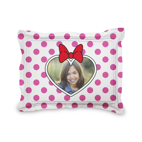 Disney Minnie Mouse Sham, Sham, Sham w/ White Back, Standard, Pink