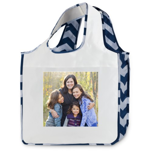 Chevron Stripes Reusable Shopping Bag