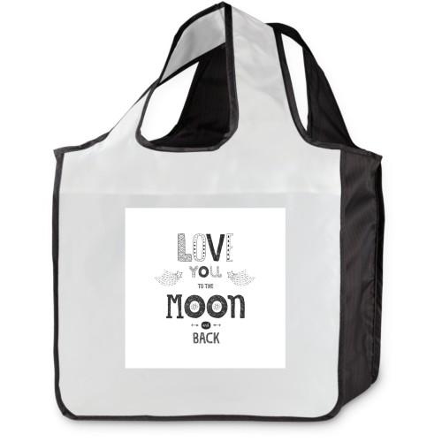 To The Moon  Reusable Shopping Bag, Multicolor
