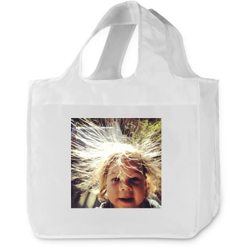 Solid Ivory Reusable Shopping Bag