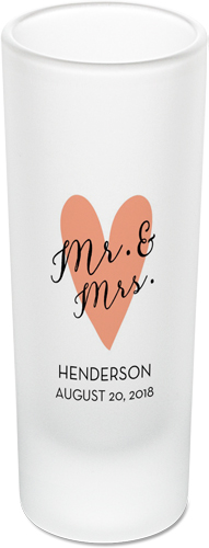 Mr and Mrs Shot Glass, Pink