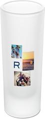 monogram collage shot glass