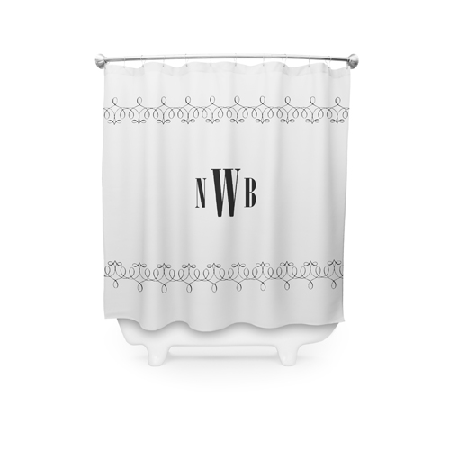 Monogram Shower Curtain Visible Part Transiotion FRONT