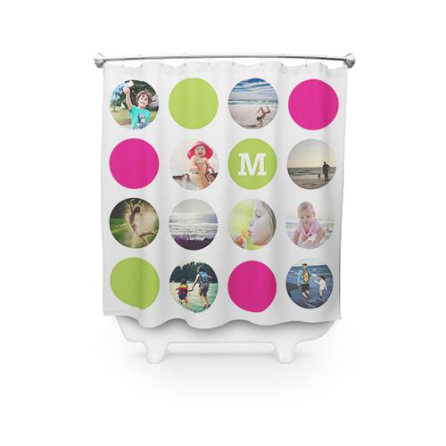 Circle Monogram Collage Shower Curtain
