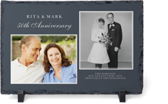 traditional anniversary slate plaque