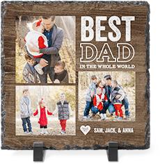 best world class dad slate plaque