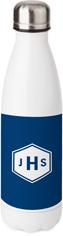 classic diamond monogram stainless steel water bottle