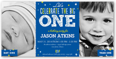 Baby boys first birthday invitations shutterfly filmwisefo