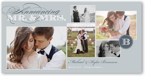 Wedded Bliss Wedding Announcement