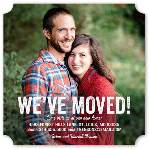 Our New Home Moving Announcement