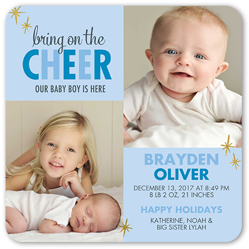 Cheer And Love Boy Birth Announcement