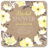 beautiful bouquet bridal shower invitation 5x5 flat