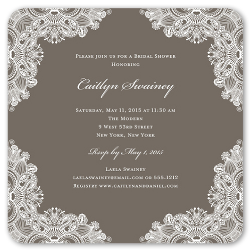 Ornamental Elegance 5x5 Invitation Bridal Shower Invitations