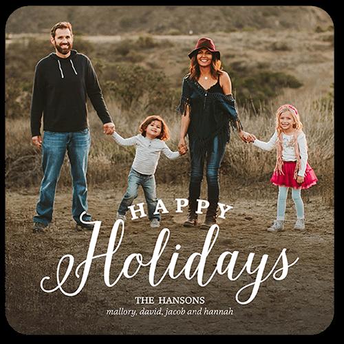 Basic Family Greeting Holiday Card