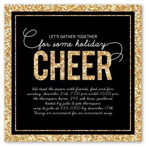 Glitter Year Holiday Invitation
