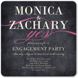 scripted yes engagement party invitation 5x5 flat