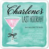 last hoorah bachelorette party invitation 5x5 flat